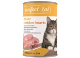 Perfect Cat Chicken&Chicken hearts (kuře&srdce), bal. 6x 400g 090311